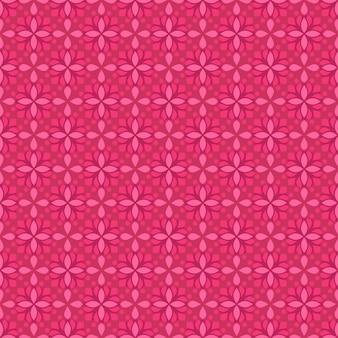 Impression de fond sans couture batik classique. papier peint géométrique de luxe. élégant motif floral traditionnel de couleur rose