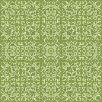 Impression de fond sans couture batik classique. papier peint de luxe de mandala de feuille élégant motif floral traditionnel