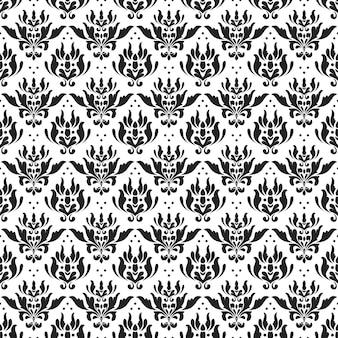 Impression de fond sans couture batik classique. papier peint de mandala de feuille de luxe. élégant motif floral traditionnel