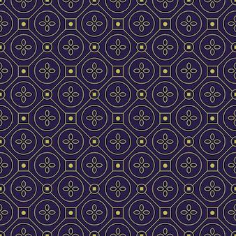 Impression de fond sans couture batik géométrique. papier peint en tissu classique. décoration ethnique élégante