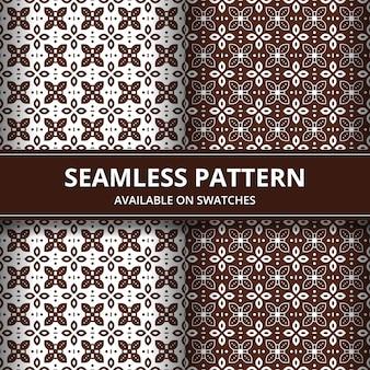 Impression de fond sans couture batik traditionnel élégant. motif de luxe et classique pour papier peint en toile de fond.