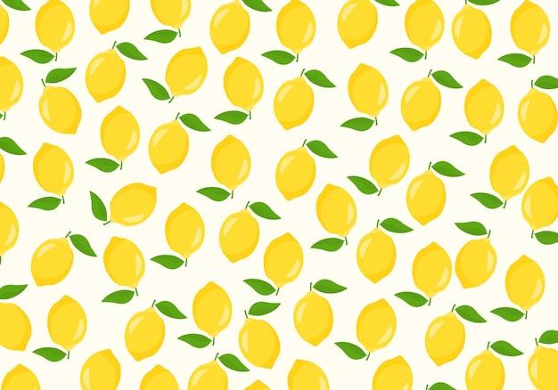 Impression de fond sans couture de citron. illustration vectorielle. abstrait.