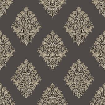 Impression de fond sans couture damassé. ornement damassé vieux luxe classique, texture transparente victorienne royale. modèle baroque floral exquis vintage.