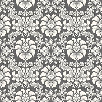 Impression de fond sans couture damassé de vecteur. ornement damassé à l'ancienne de luxe classique, texture transparente victorienne royale pour papiers peints, textile, emballage. modèle baroque floral exquis.