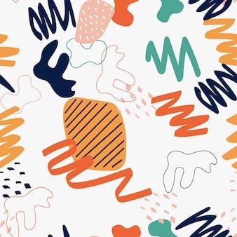 Impression de fond sans couture de forme simple abstraite. illustration vectorielle eps10