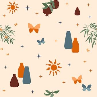 Impression de fond sans couture. motif d'été ensoleillé pour le papier d'emballage de conception, le papier peint, le tissu, l'enfant ferme le textile, etc.