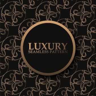Impression de fond sans couture sombre de luxe