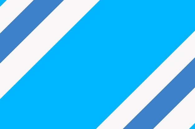 Impression de fond simple, vecteur de conception à rayures bleues