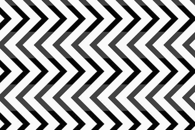 Impression de fond simple, vecteur de dessin abstrait en zigzag noir