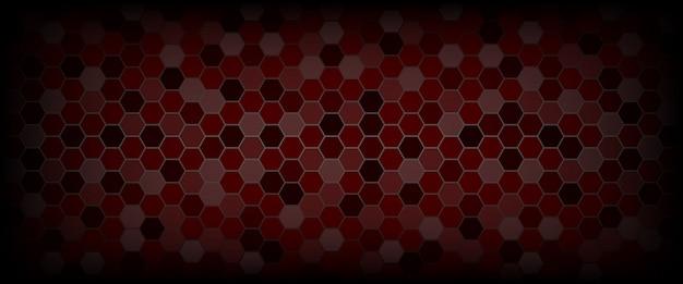 Impression de fond technologique hexagone