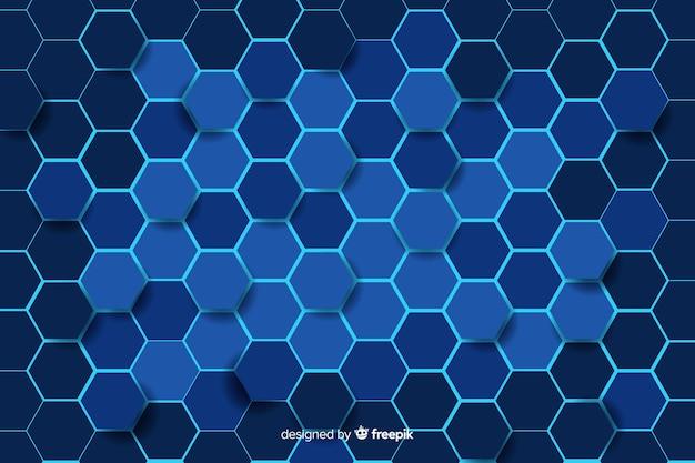 Impression de fond technologique en nid d'abeille