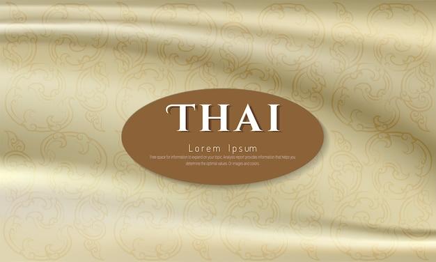 Impression de fond thaï