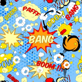 Impression de fond transparente avec des bulles de discours de bande dessinée illustration vectorielle