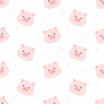 Impression de fond transparente cochon mignon
