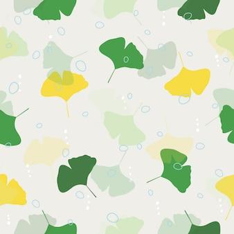 Impression de fond transparente feuilles colorées
