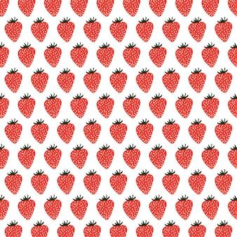Impression de fond transparente fraises