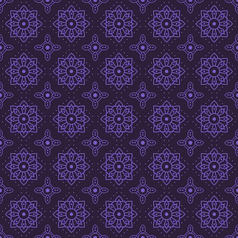 Impression de fond transparente mandala. papier peint de forme géométrique. fleur ornement floral en couleur pourpre