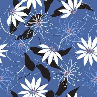 Impression de fond transparente surface florale abstraite