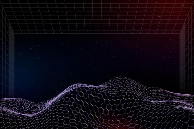 Impression de fond vague abstraite 3d violet