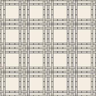 Impression de fond de vannerie monochrome transparente de ligne