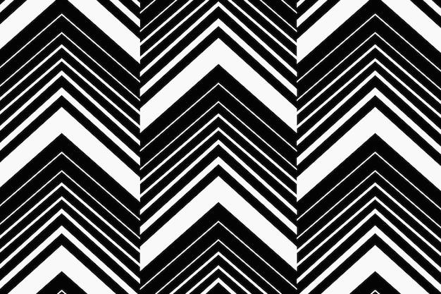 Impression de fond en zigzag, chevron noir, vecteur de conception simple