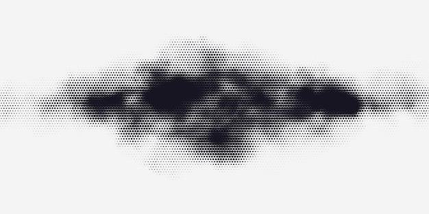 Impression monochrome raster vecteur abstrait demi-teinte fond noir et blanc texture de points