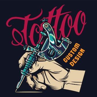 Impression de studio de tatouage vintage