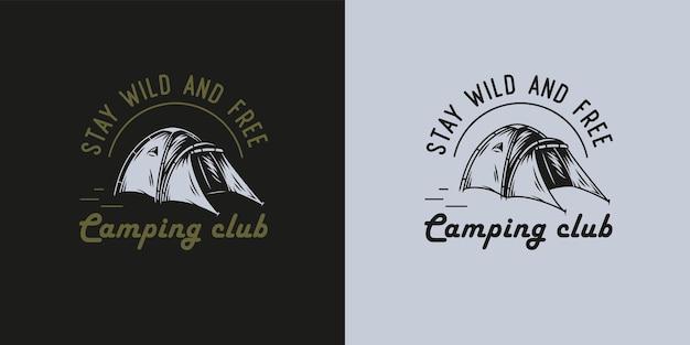 Impression de tente de camping pour voyage en forêt en plein air