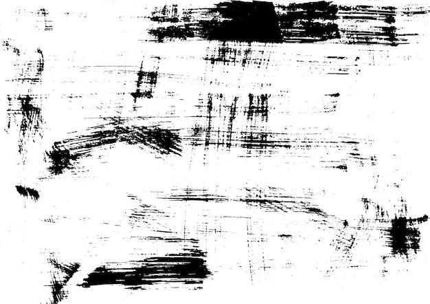 Impression de texture d'encre urbaine grunge sur papier à la main vecteur d'impression monochrome vintage graphique abstrait