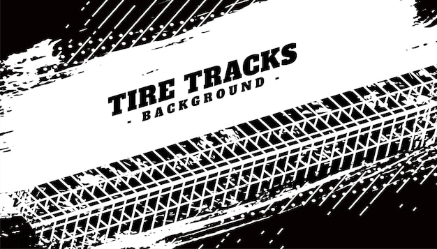Impression de texture de pneu sur fond sale grunge