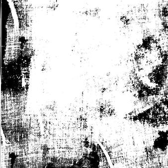 Impression de texture de toile d'encre urbaine grunge sur papier à la main vecteur d'impression monochrome vintage abstrait