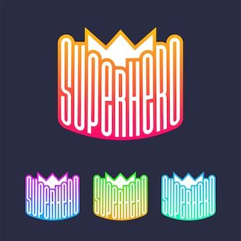 Impression de typographie complète de super héros