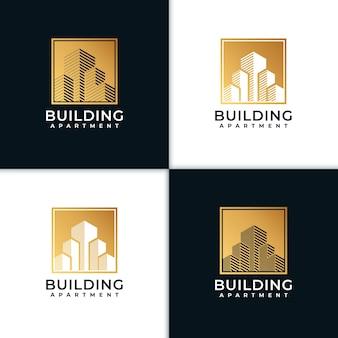 Impressionnant bâtiment inspiration de conception de logo immobilier