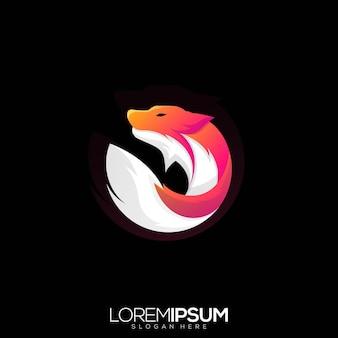 Impressionnant fox circle premium logo