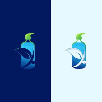 Impressionnant logo natural sanitizer sanitizer illustration