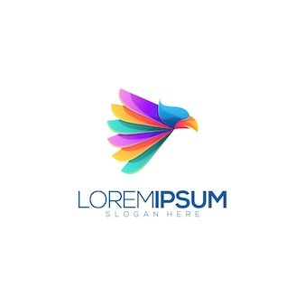 Impressionnant logo premium eagle coloré abstrait