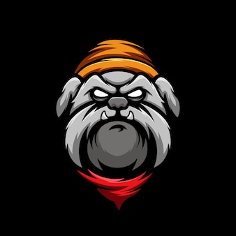 Impressionnant mascotte bull dog