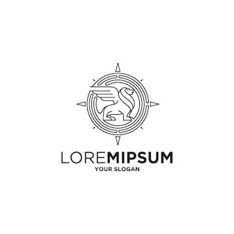Impressionnant vecteur de logo de tribu de lion