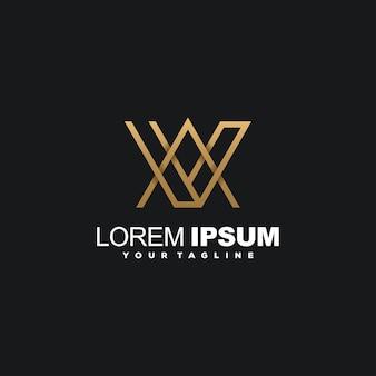 Impressionnant vecteur de société de conception de logo de luxe initial