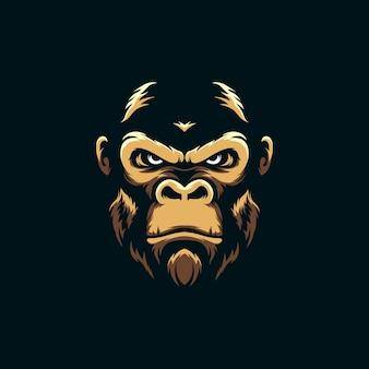 Impressionnante gorille mascotte