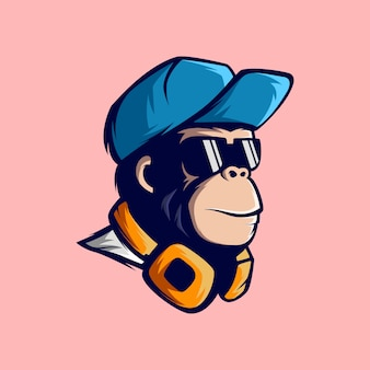 Impressionnante mascotte de singe