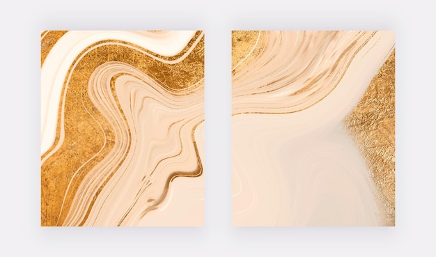 Impressions d'art mural avec des paillettes d'or