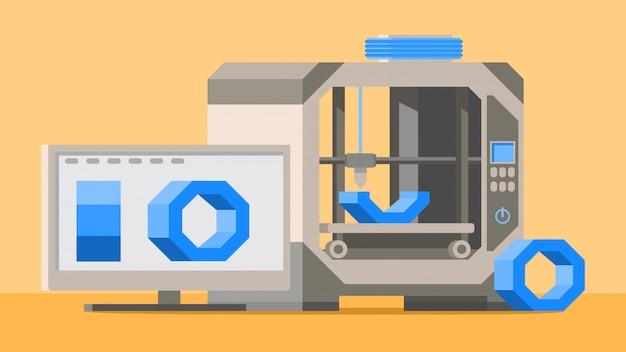 Imprimante 3d et moniteur d'écran