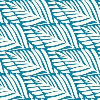 Imprimé jungle nature estivale. plante exotique. motif tropical, feuilles de palmier fond floral vectorielle continue.