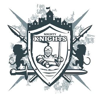 Imprimé mighty knights