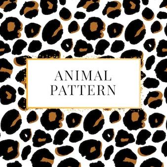 Imprimé motif léopard sans couture