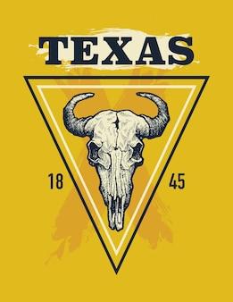 Imprimé T-shirt Texas Buffalo. Vecteur Premium