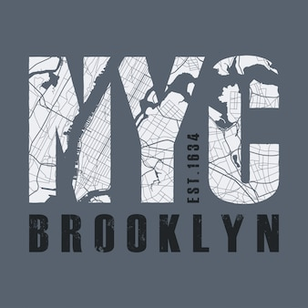 Imprimé tee-shirt new york. tshirt graphiques timbre étiquette typograp