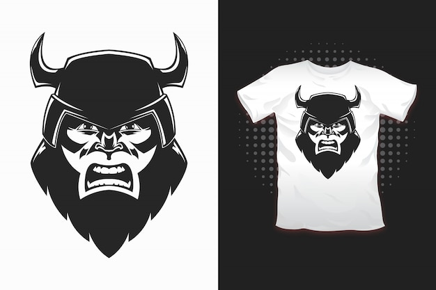 Imprimé viking pour la conception de t-shirts