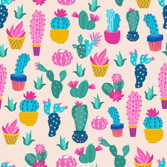 Imprimer cactus coloré
